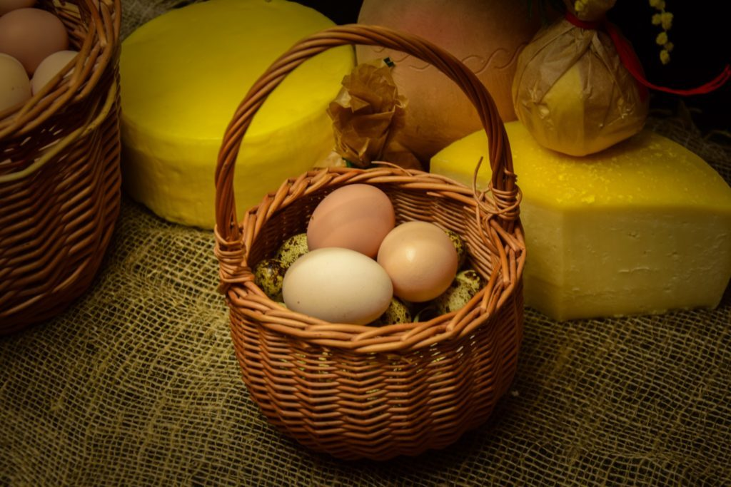 Домашние куриные яйца (10 шт)